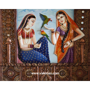 Two Ladies With Parrot